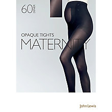 Buy John Lewis 60 Denier Opaque Maternity Tights, Black Online at johnlewis.com