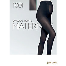 Buy John Lewis 100 Denier Opaque Maternity Tights, Black Online at johnlewis.com