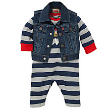 Buy Levi's Baby's Stripe Rompersuit and Gilet, 2 Piece, Multi Online at johnlewis.com
