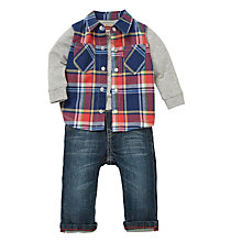 Buy Levi's Baby's 2-Piece Check Gilet Shirt and Jeans, Multi Online at johnlewis.com