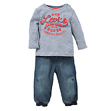 Buy Levi's Baby's T-Shirt and Jeans, 2 Piece, Multi Online at johnlewis.com
