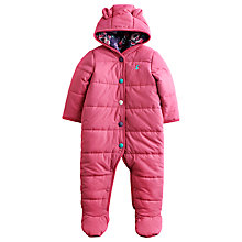 Buy Baby Joule Kate Quilted Snowsuit, Pink Online at johnlewis.com