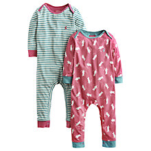 Buy Baby Joule Mouse Sleepsuits, Pack of 2, Multi Online at johnlewis.com