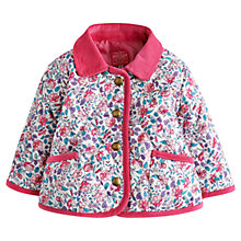 Buy Baby Joule Floral Quilt Mable Jacket, Pink/Multi Online at johnlewis.com