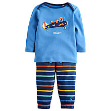 Buy Baby Joule Byron Fox Top and Trousers, Blue Online at johnlewis.com