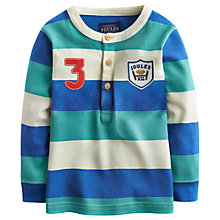 Buy Baby Joule Stripe Rugby Top, Blue/Green Online at johnlewis.com