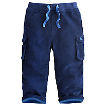 Buy Baby Joule Corduroy Ben Trousers, Navy Online at johnlewis.com