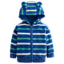 Buy Baby Joule Stripe Ted Fleece Hoodie, Navy/Multi Online at johnlewis.com