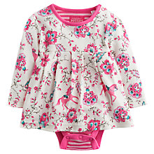 Buy Baby Joule Helena Horse Print Floral Dress, Pink/Multi Online at johnlewis.com