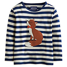 Buy Baby Joule Jack Fox Stripe Long Sleeve Top, Navy/Multi Online at johnlewis.com