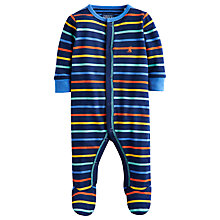 Buy Baby Joule Stripe Ziggy Sleepsuit, Navy/Multi Online at johnlewis.com