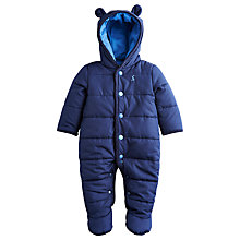 Buy Baby Joule Quilted Snowsuit, Navy Online at johnlewis.com