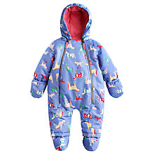 Buy Baby Joule Horse Print Everly Snowsuit, Purple Online at johnlewis.com