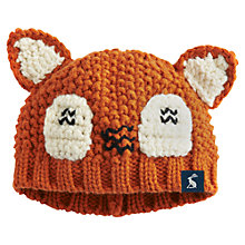 Buy Baby Joule Knitted Foxley Hat, Brown Online at johnlewis.com