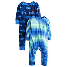 Buy Baby Joule Cole Babygrows, Pack of 2, Blue Online at johnlewis.com
