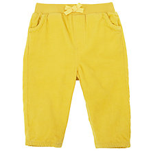Buy John Lewis Corduroy Trousers, Yellow Online at johnlewis.com