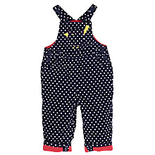 Buy John Lewis Spotty Corduroy Dungarees, Navy/White Online at johnlewis.com