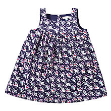Buy John Lewis Vintage Floral Corduroy Pinafore Dress, Navy/Multi Online at johnlewis.com