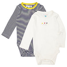 Buy John Lewis Stripe and Mouse Bodysuit, Pack of 2, Multi Online at johnlewis.com