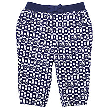 Buy John Lewis Crown Print Corduroy Trousers, Navy/White Online at johnlewis.com