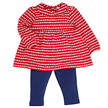 Buy John Lewis Jersey Dress and Leggings, Red/Blue Online at johnlewis.com