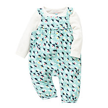 Buy John Lewis Floral Dungarees & Long Sleeve Jersey Set, Blue/White Online at johnlewis.com