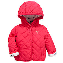 Buy John Lewis Quilted Jacket, Pink Online at johnlewis.com