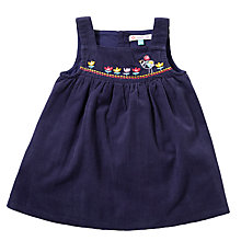 Buy John Lewis Embroidered Corduroy Pinafore Dress, Navy/Multi Online at johnlewis.com