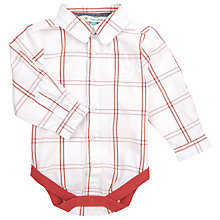 Buy John Lewis Window Check Shirt Bodysuit Online at johnlewis.com
