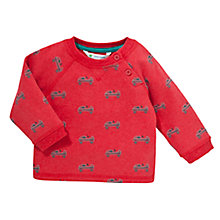 Buy John Lewis Go Kart Button Knit Jumper, Red Online at johnlewis.com