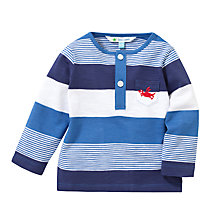 Buy John Lewis Grandad Wide Stripe Long Sleeve T-Shirt, Blue Online at johnlewis.com
