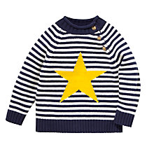 Buy John Lewis Star & Stripe Knitted Jumper, Navy/Multi Online at johnlewis.com