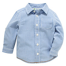 Buy John Lewis Micro Gingham Shirt, Navy Online at johnlewis.com