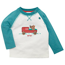 Buy John Lewis Go Kart Mouse Raglan Sleeve Baseball Top, White/Green Online at johnlewis.com