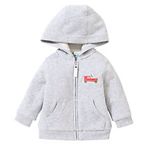 Buy John Lewis Go Kart Zip Hoodie, Grey Online at johnlewis.com