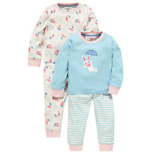 Buy John Lewis Rabbit, Stripe & Star Pyjamas, Pack of 2, Multi Online at johnlewis.com