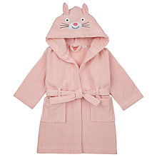 Buy John Lewis Bunny Ears Robe, Pink Online at johnlewis.com