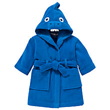 Buy John Lewis Children's Dinosaur Hooded Robe, Blue Online at johnlewis.com