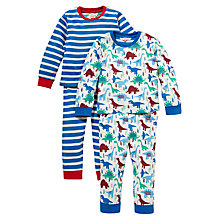 Buy John Lewis Dinosaur Pyjamas, Set of 2 Online at johnlewis.com