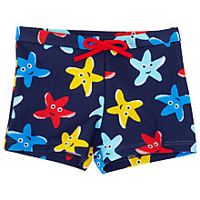 Buy John Lewis Starfish Swimming Trunks, Navy/Multi Online at johnlewis.com
