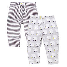 Buy John Lewis Baby Sheep and Stripe Joggers, Pack of 2, Grey Online at johnlewis.com