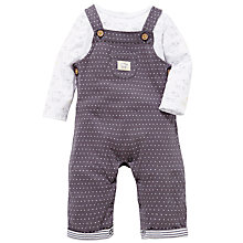 Buy John Lewis Baby Sheep Long Sleeve Jersey & Dungaree Set, Charcoal/White Online at johnlewis.com