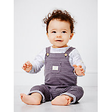 Buy John Lewis Sheep Long Sleeve Jersey & Dungaree Set, Charcoal/White Online at johnlewis.com