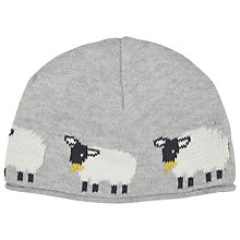Buy John Lewis Baby's Sheep Knit Hat, Grey Online at johnlewis.com