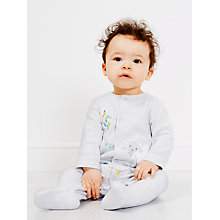 Buy John Lewis Sheep & Kite Sleepsuit, Grey Online at johnlewis.com