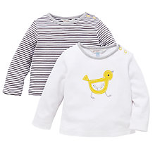 Buy John Lewis Baby Chick/ Stripe Top, Pack of 2 Online at johnlewis.com
