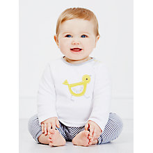 Buy John Lewis Chick/Stripe Top, Pack of 2, White Online at johnlewis.com