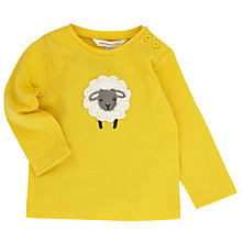 Buy John Lewis Layette Crochet Sheep Long Sleeve T-Shirt, Yellow Online at johnlewis.com