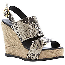 Buy Dune Black Jonart Espadrille Leather Sandals Online at johnlewis.com