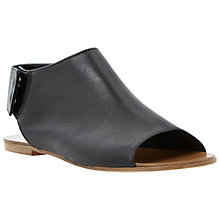 Buy Dune Black Lilli Flat Leather Sandals, Black Online at johnlewis.com